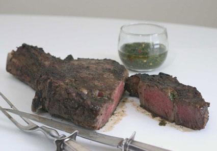 Chimichurri and steak