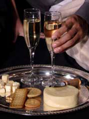 Cheese and champagne