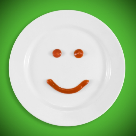 smiling plate