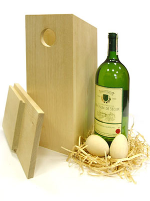 bird house wine box